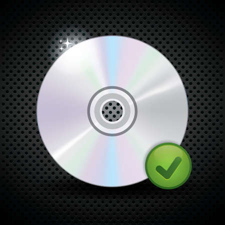 compact: compact disc with checked mark