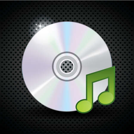 note pc: compact disc with musical note