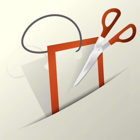 scissors cutting: scissors cutting tag