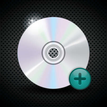 add: compact disk add icon