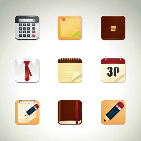 clothes organizer: set of office icons Illustration