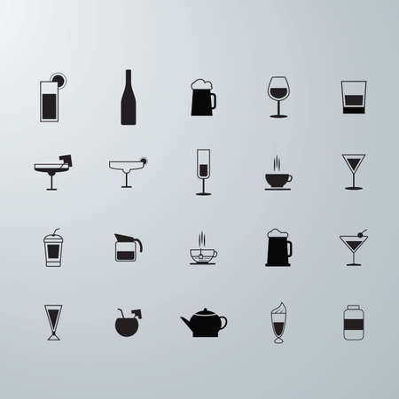 icons: drink icons Illustration