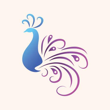 孔雀のアイコン