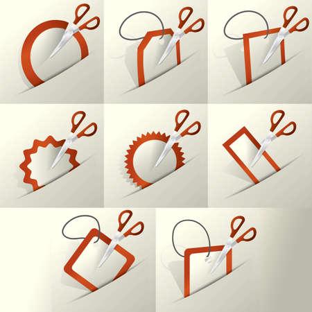scissors cutting paper: scissors cutting paper set
