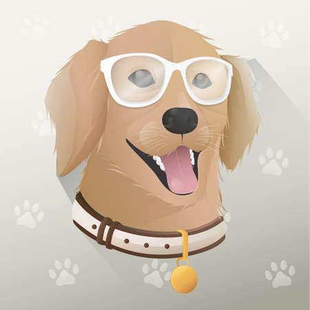 cute dog: cute dog with glasses