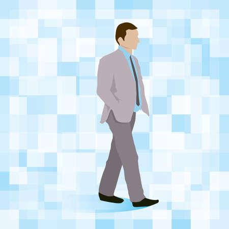 formal wear clothing: businessman walking