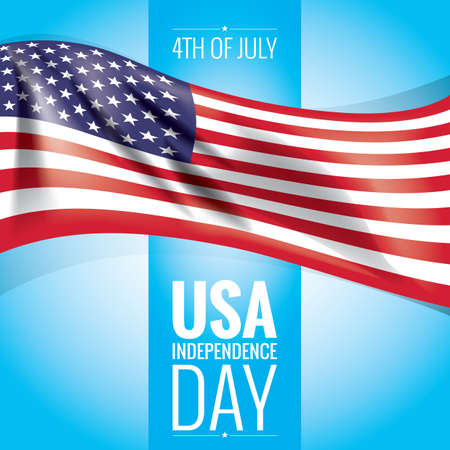 the day: usa independence day poster Illustration