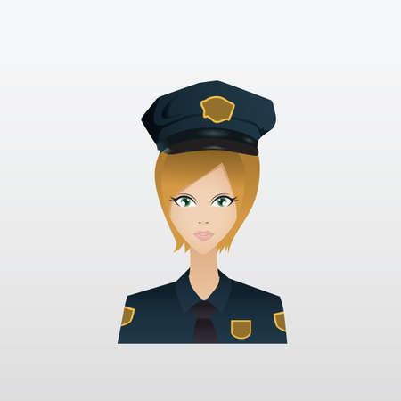 femme policier: policière Illustration