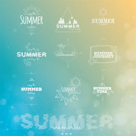 typographies: set of summer typographies Illustration