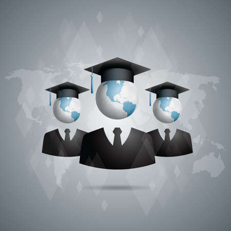 education concept: global education concept Illustration