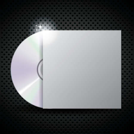 compact: compact disc with cover Illustration