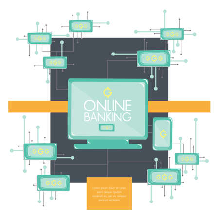 online banking: infographic of online banking