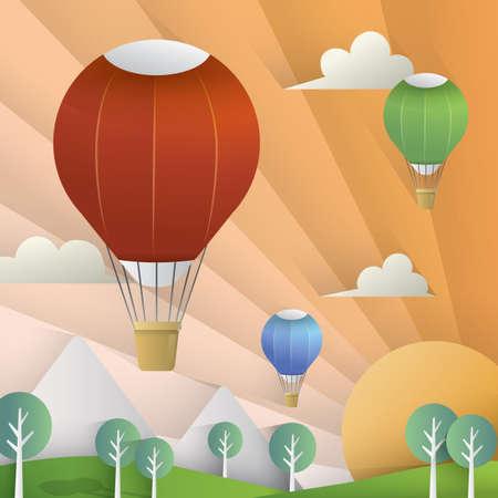 the hot: hot air balloon card