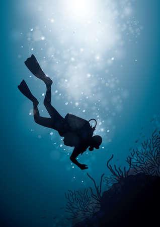 scuba: scuba diving Illustration
