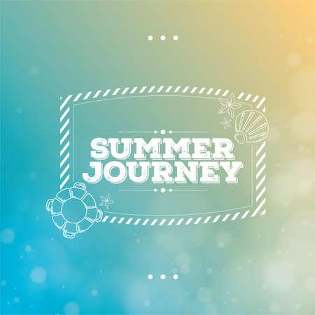 savour: summer typography Illustration
