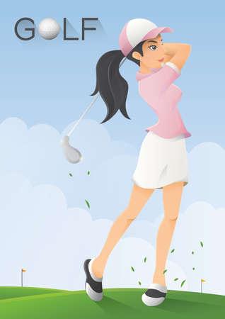 golf player: golf player