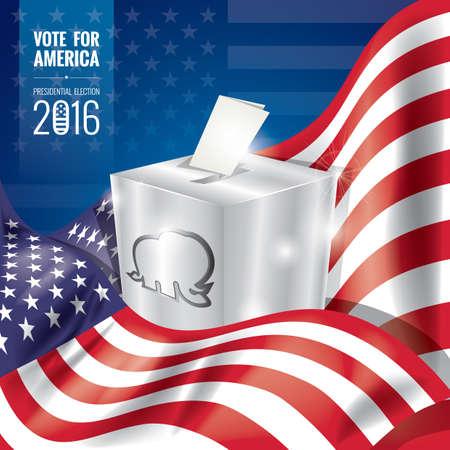 presidential: usa presidential election poster Illustration