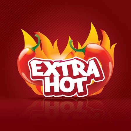 the hot: hot chilli icon Illustration
