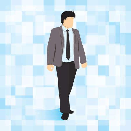 formal clothing: businessman walking