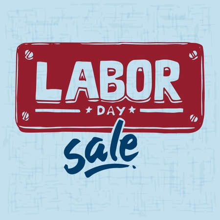 the day: labor day sale poster