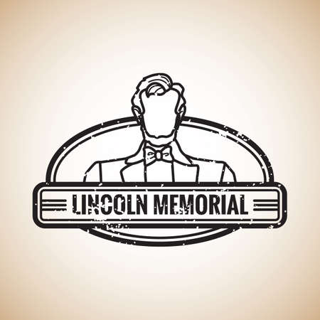 president of the usa: lincoln memorial stamp