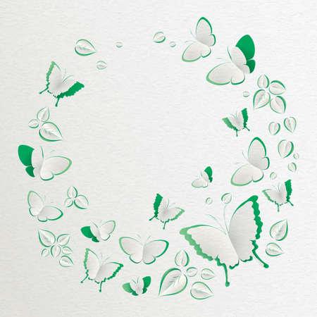 paper cut out effect design Illustration