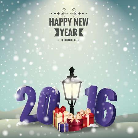 frohes neues Jahr-Karte
