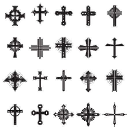 crosses: collection of crosses design Illustration