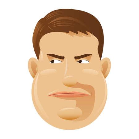 desconfianza: hombre que muestra la desconfianza Vectores
