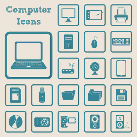 handy cam: collection of computer icons