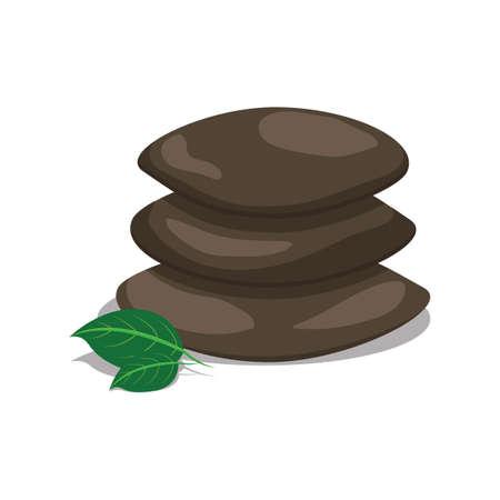 zen stone: zen stones and leaves