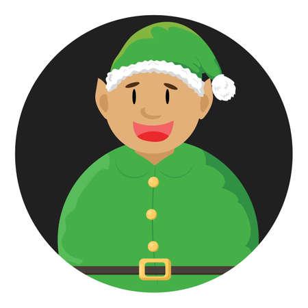 dressed: man dressed as santa claus Illustration
