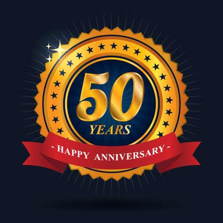happy anniversary label design