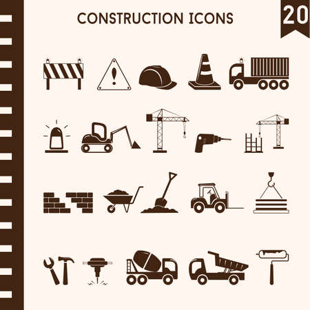 driller: collection of construction icons