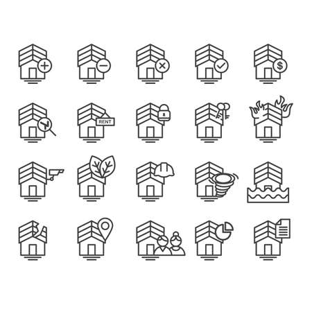building lot: set of house icons