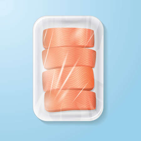 salmon fillet: packed salmon fillet