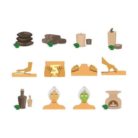 moisturizer: set of spa items Illustration