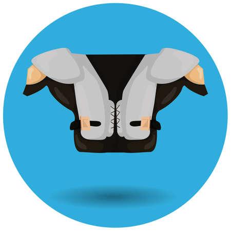 pad: american football shoulder pad