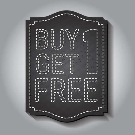 buy one get one free label Illustration