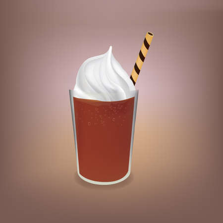 cold coffee: cold coffee with ice cream