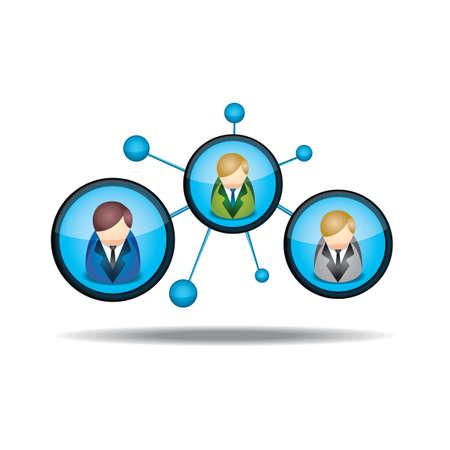 redes de mercadeo: comercialización de la red Vectores