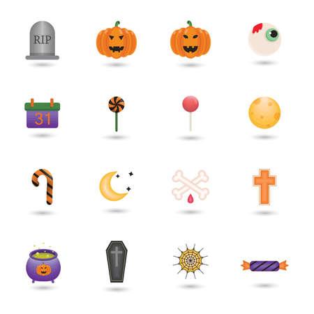 date night: halloween themed vectors Illustration