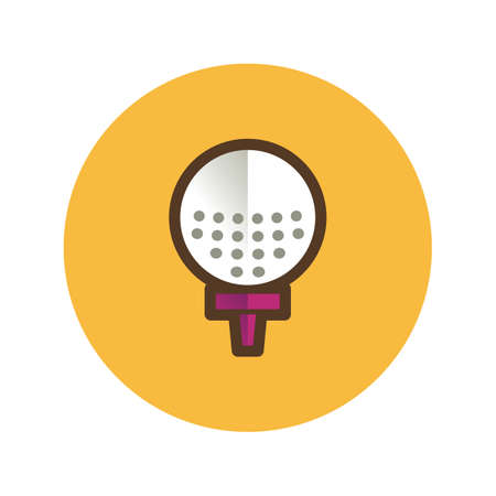 dimples: golf ball Illustration