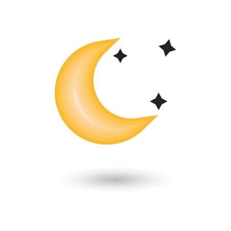 moon: moon and stars Illustration