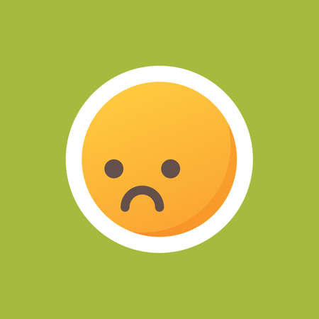 disappointed: emoticon with disappointed face Illustration