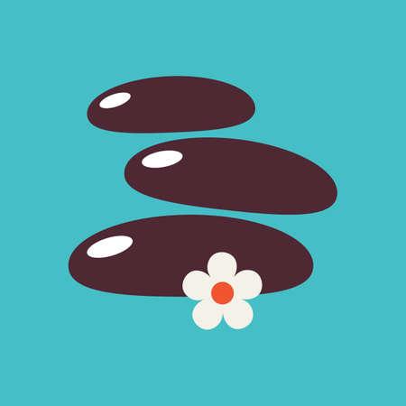 zen stones: zen stones and flower