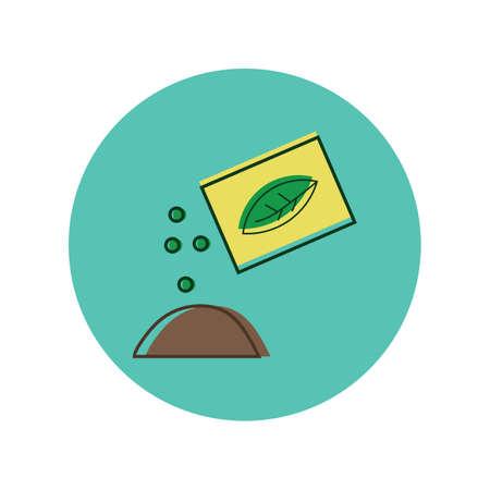 siembra: sembrando semillas en el suelo