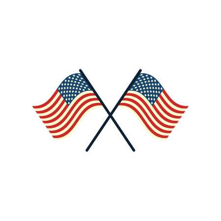 president of the usa: usa flag Illustration