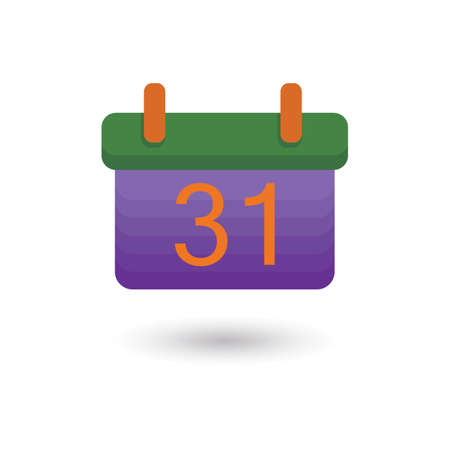31st: halloween date on calendar Illustration