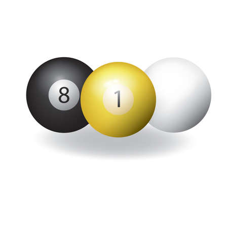 snooker: snooker balls Illustration